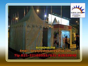 Menyewakan Tenda Kerucut Atau tenda Sarnafil Untuk Bazar Dan Pos Keamanan