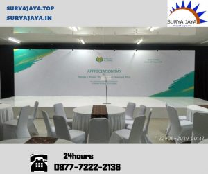 sewa backdrop dan podium