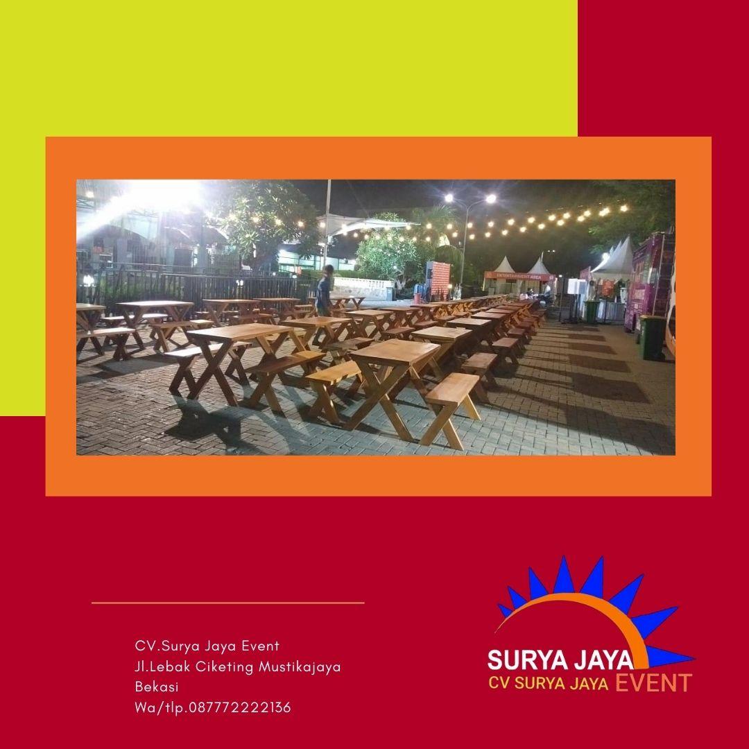 Sewa Meja Taman Jakarta Pelayanan 24 Jam Siap Kirim