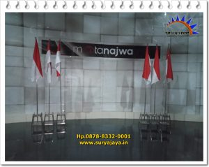 Sewa Tiang Bendera Stainless Acara Mata Najwa