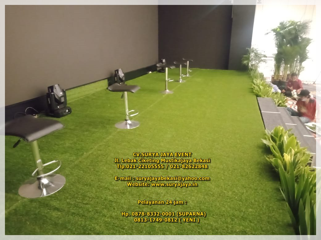 Jasa Sewa Kursi Bar Kotak Dan Rumput Sintetis