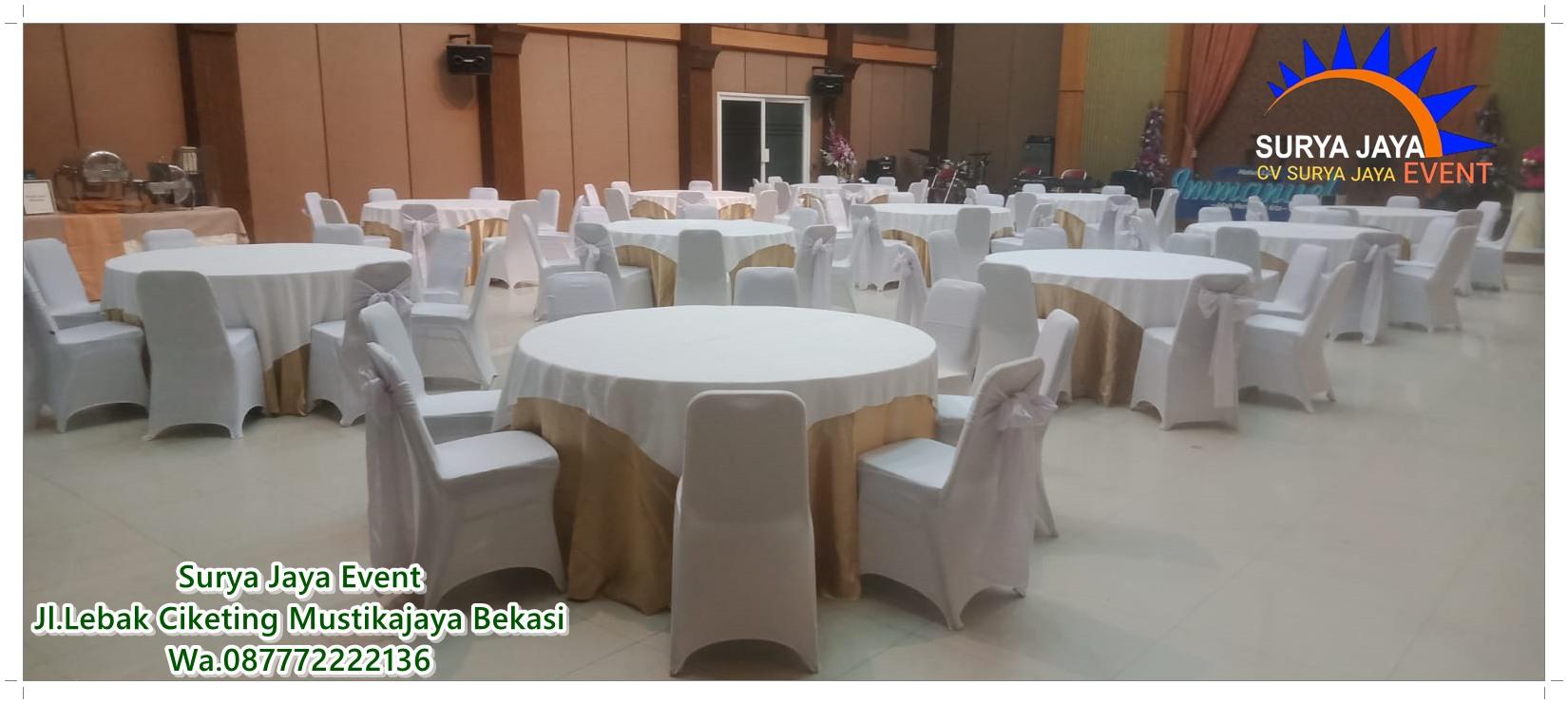 Sewa Round Table Bercover Untuk Acara